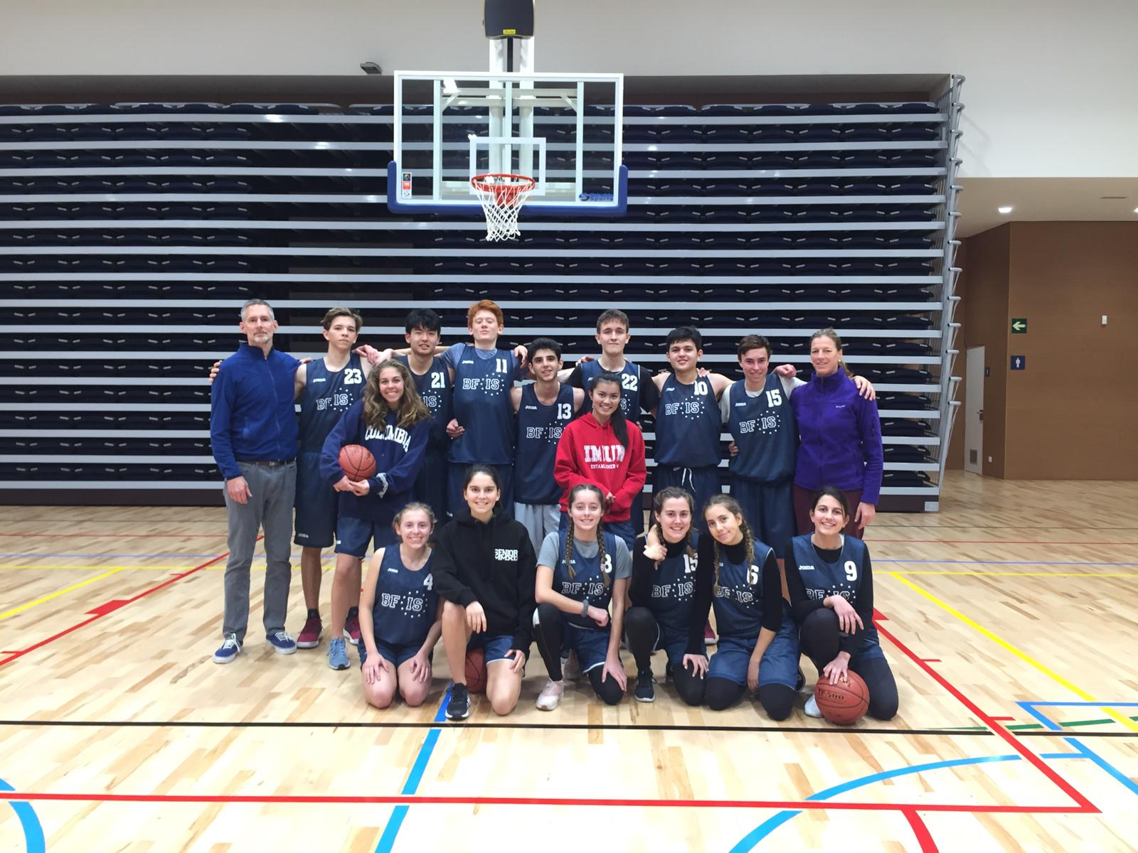 1f736e519 ... Basketball teams participated in the Invitational Basketball Tournament  hosted by the American School of Barcelona. The participating schools  included: