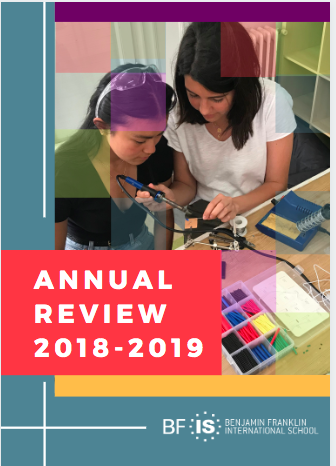 Annual Review Benjamin Franklin International School 2018-2019